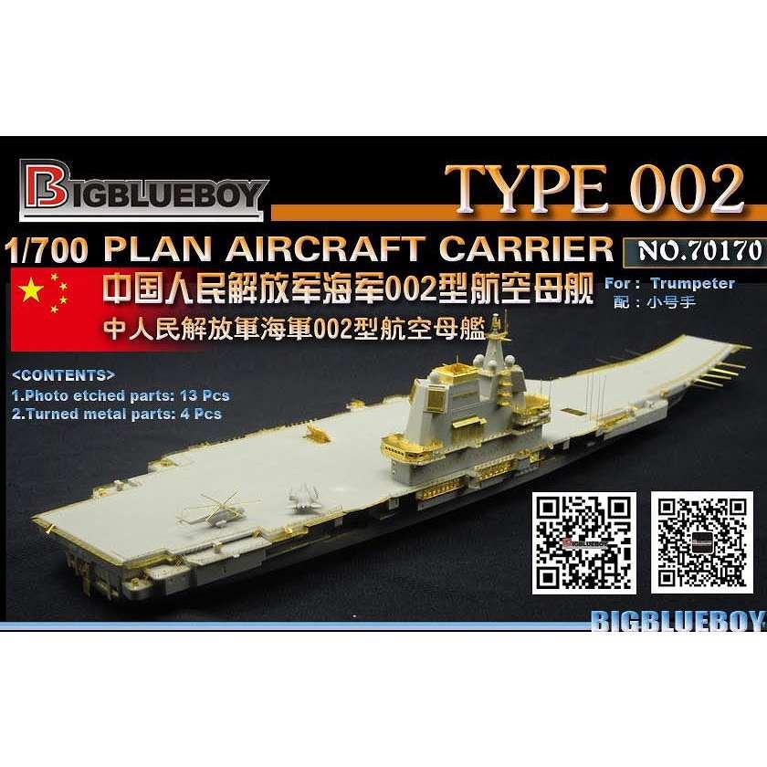 【新製品】70170 中国海軍 002型航空母艦 山東 ディテールアップパーツセット