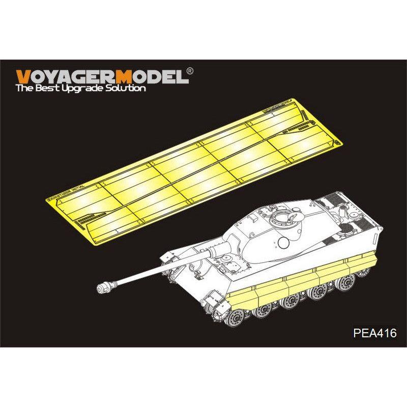 【新製品】PEA416 WWII 独 ティーガーII 試作一号車 サイドスカート