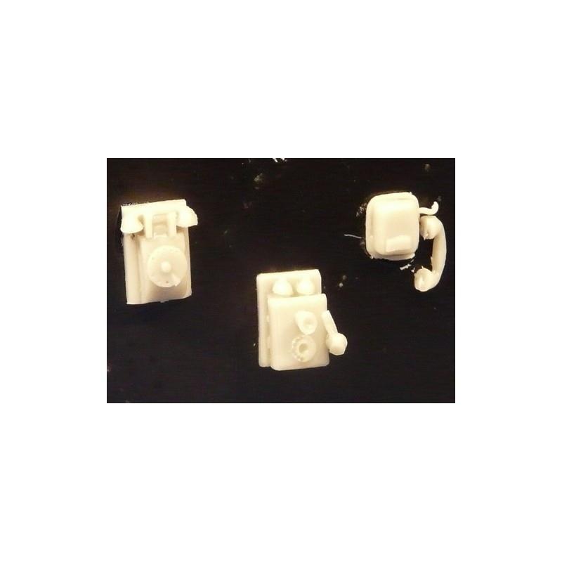 【新製品】352412 壁掛け電話 3種各2個