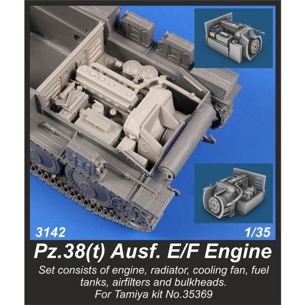 【新製品】3142 ドイツ 軽戦車 38(t) E/F型 エンジンセット (タミヤ用)