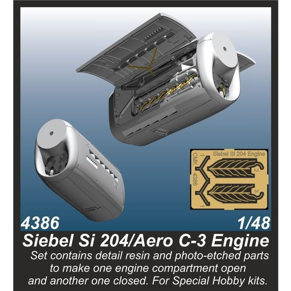 【新製品】4386 ジーベル Si204/エアロ C-3 エンジンセット (スペシャルホビー用)