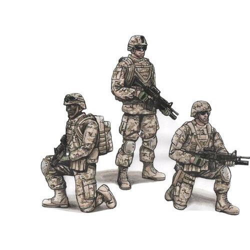 【新製品】F72343 現用米陸軍 第2歩兵師団