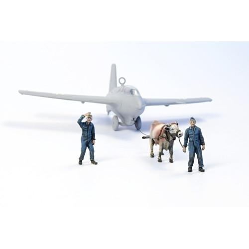 【新製品】F72346 Me163B コメット 整備員/牛