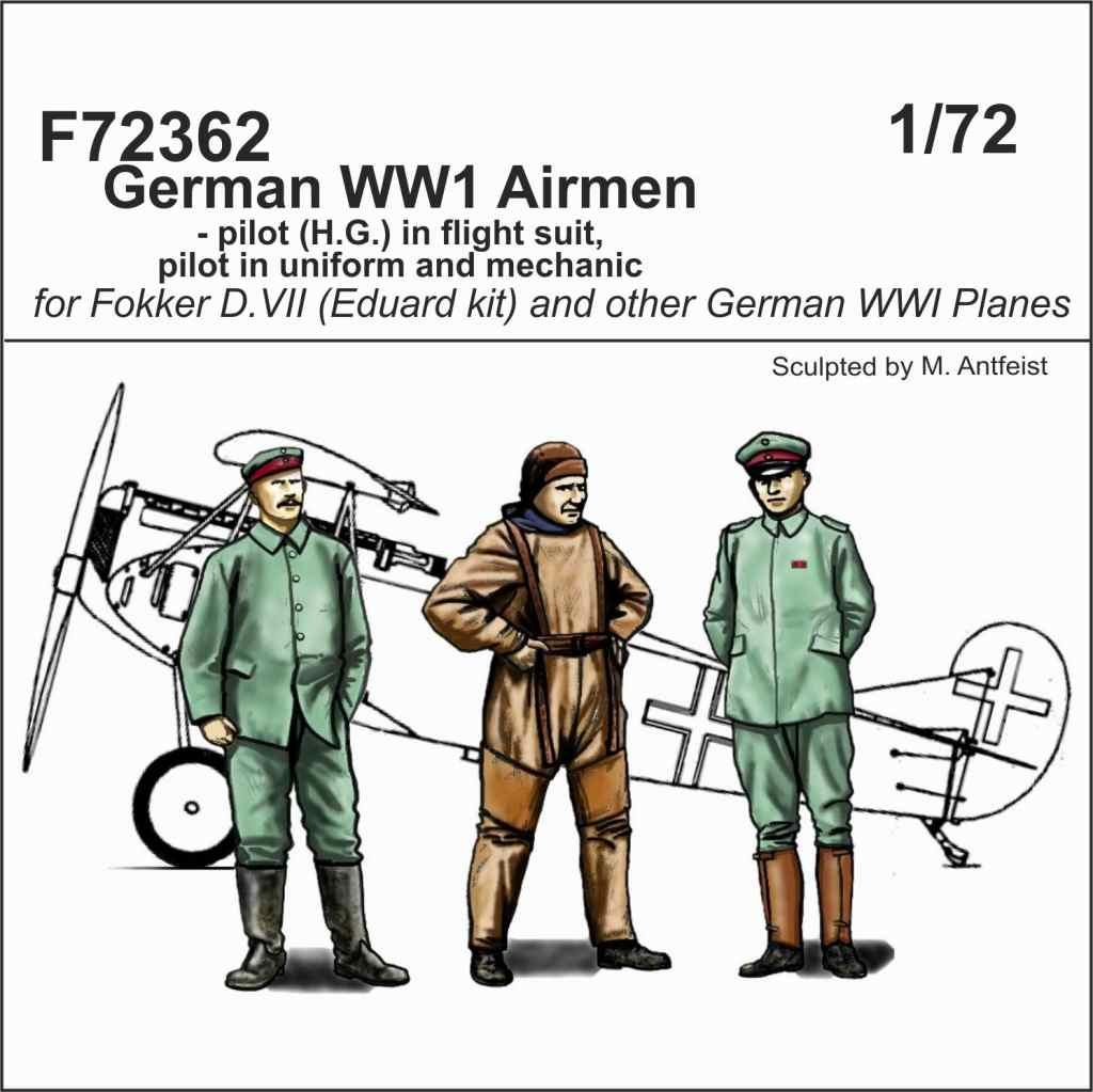 【新製品】F72362 WWI ドイツ空軍 パイロット & 整備兵 (3体)
