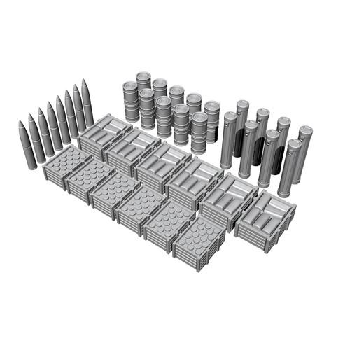 【新製品】N72028 独 Uボート タイプVII-IX 弾薬&補給物資