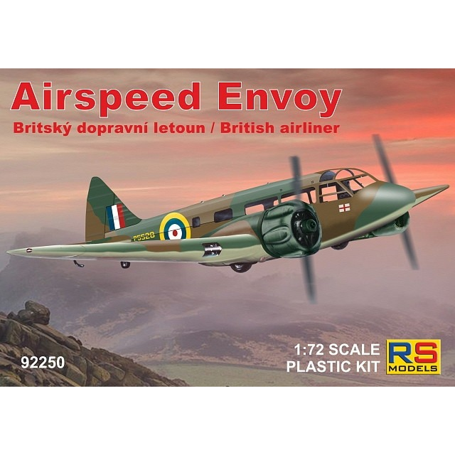 【新製品】92250 エアスピード エンボイ AS.6J RAF,1940