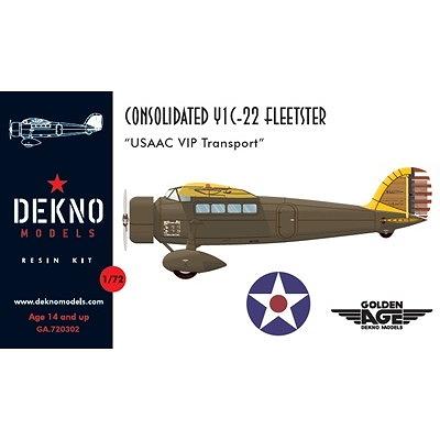 【新製品】GA720302)コンソリデーテッド Y1C-22 フリートスター アメリカ陸軍航空隊 要人輸送機