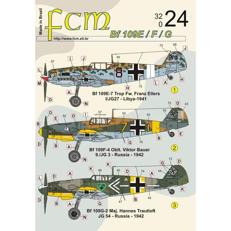 【新製品】32024 メッサーシュミット Bf109E-7/F-4/G-2