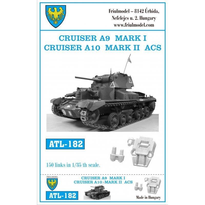 【新製品】ATL-182 WWII 英 A9巡航戦車 MkI/A10 巡航戦車 MkII ACS