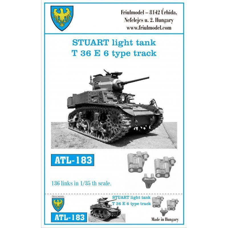 【新製品】ATL-183 M3 スチュアート軽戦車 T36E6型トラック