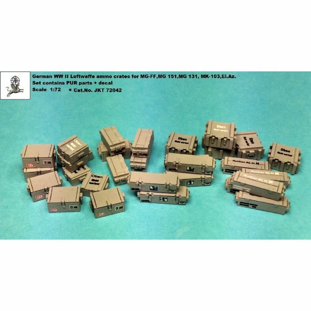 【新製品】JKT72042 WWII ドイツ空軍 弾薬箱 MG-FF/MG151/MG131/Mk103等