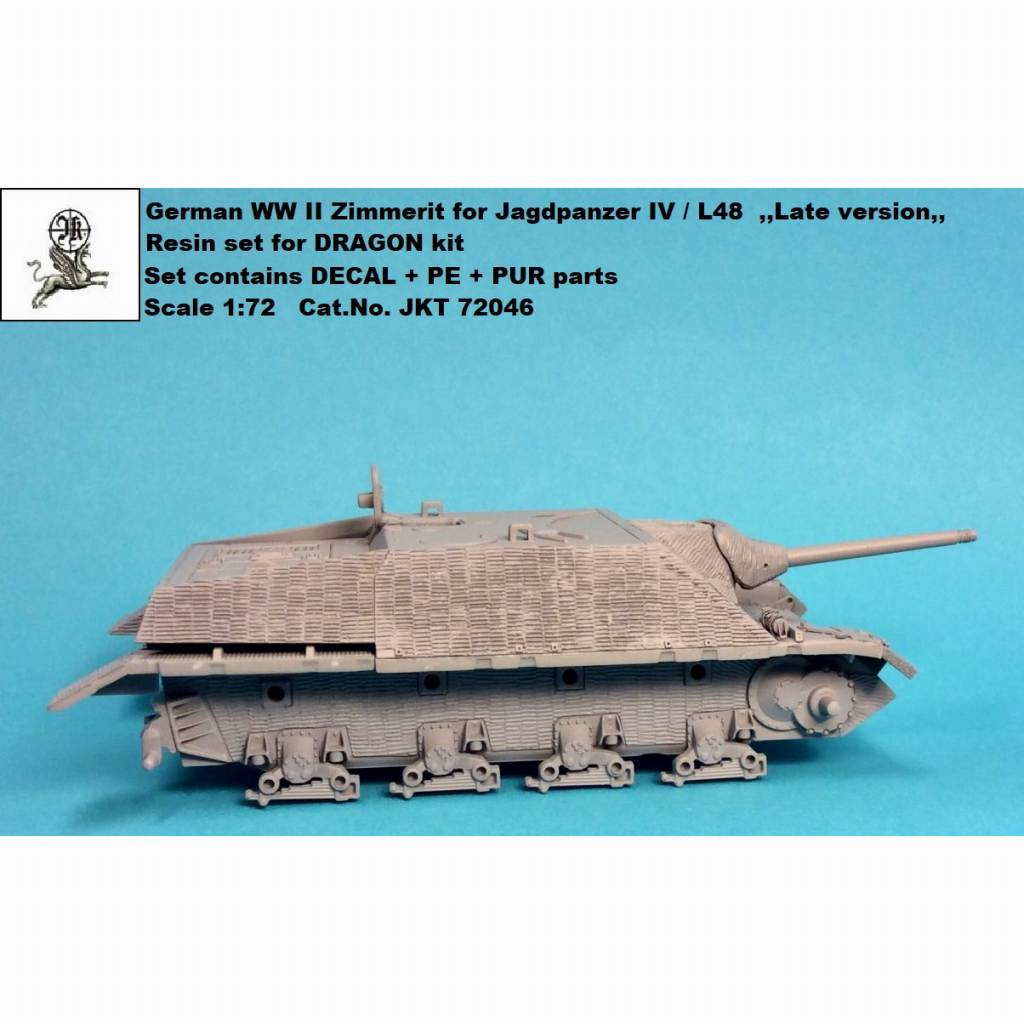 【新製品】JKT72046 IV号駆逐戦車 L/48 後期型用ツィメリットコーティング