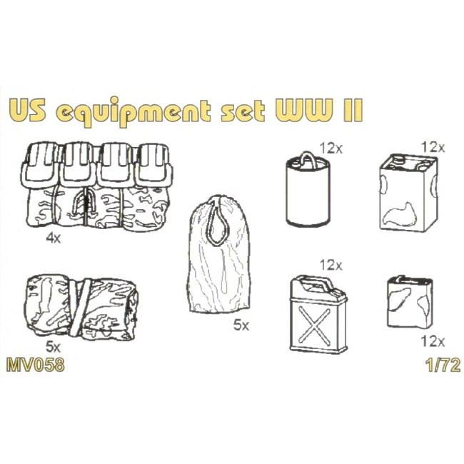 【新製品】MV058 WWII 米 装備品セット