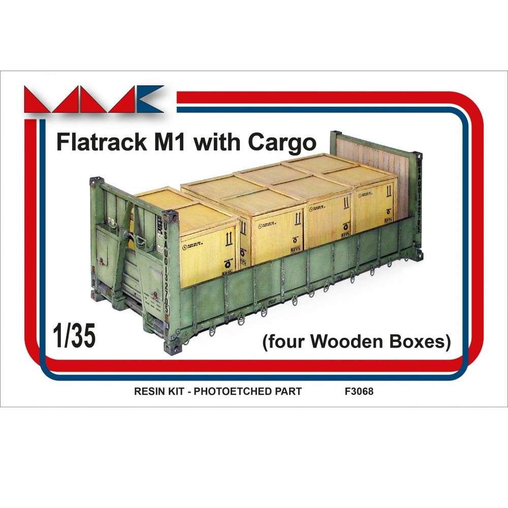 【新製品】F3068 アメリカ /M1 平荷台+積荷