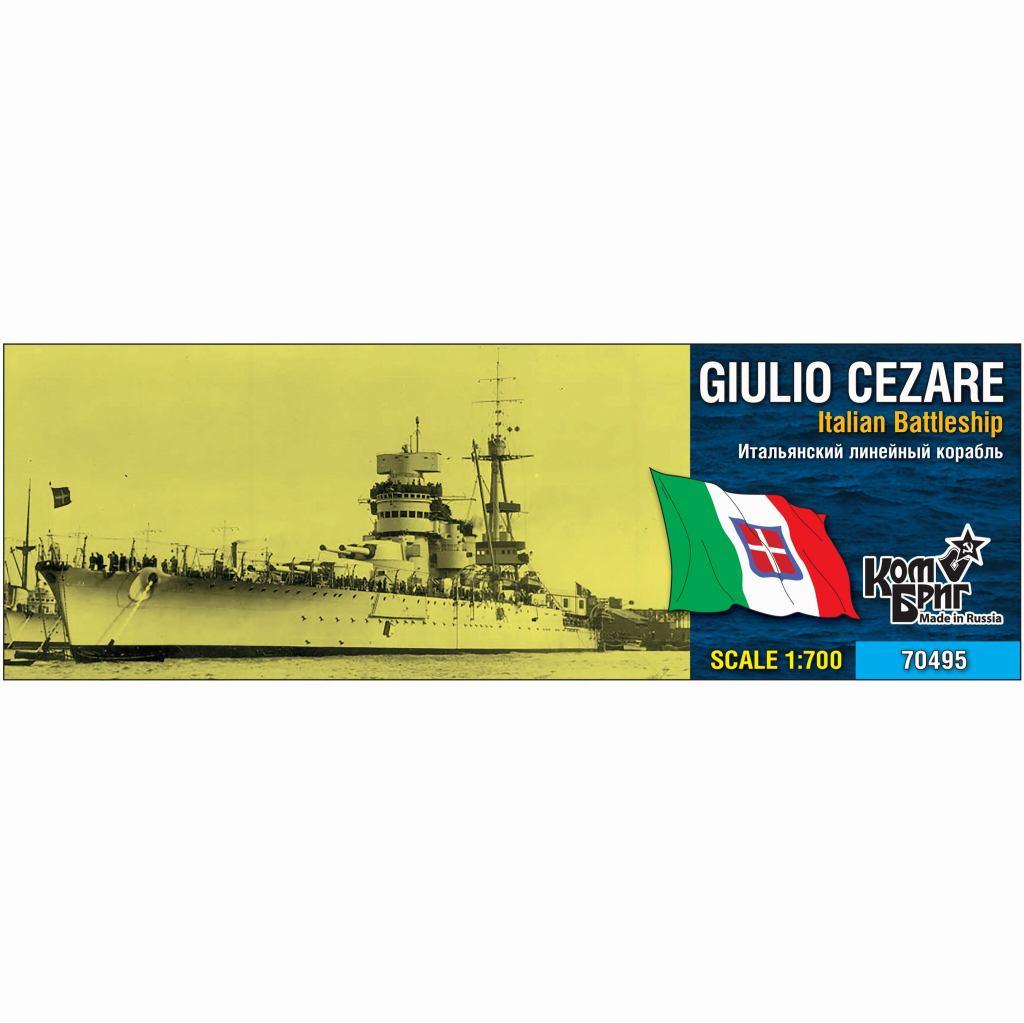 【新製品】70495 伊海軍 コンテ・ディ・カブール級戦艦 ジュリオ・チェザーレ Giulio Cezare 1937