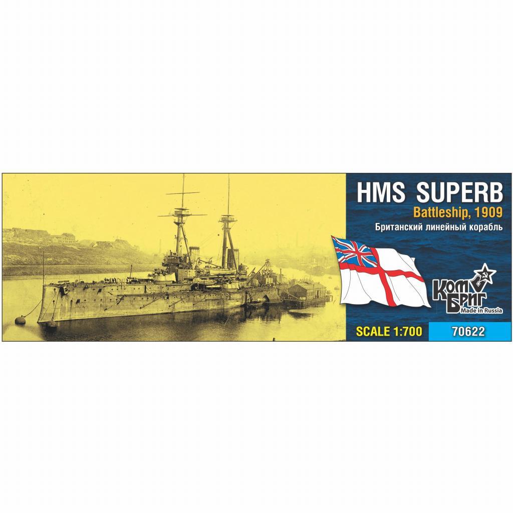 【新製品】70622 英国海軍 ベレロフォン級戦艦 シュパーブ Superb 1909