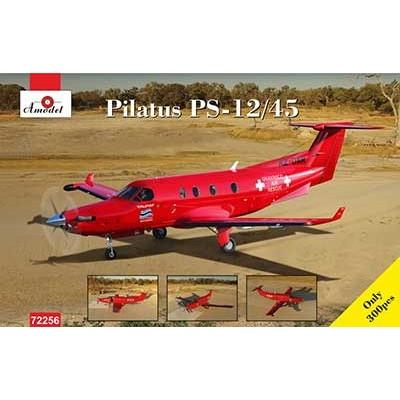 【新製品】72256 ピタラス PC-12/45 単発ビジネス機 ボツワナ オカバンコ航空救助隊