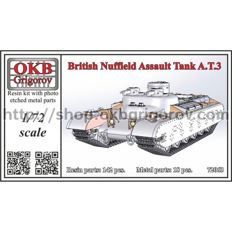 【新製品】72063 イギリス ナッフィールド・オーガニゼーション AT.3 突撃戦車
