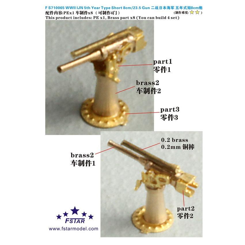 【新製品】FS710065 日本海軍 5年式短8cm砲