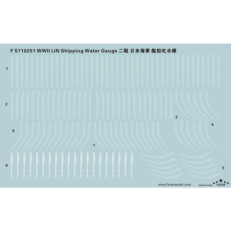 【新製品】FS710251)日本海軍 艦艇用 吃水標デカール