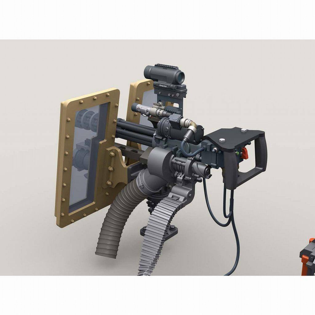 【新製品】LF3D070 M134D ミニガン 透明シールド 4000発マガジン