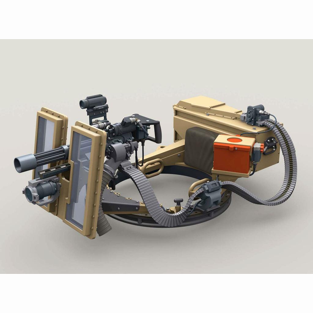 【新製品】LF3D074 M134D ミニガン MMCシステム 透明シールド w/3000発弾薬箱