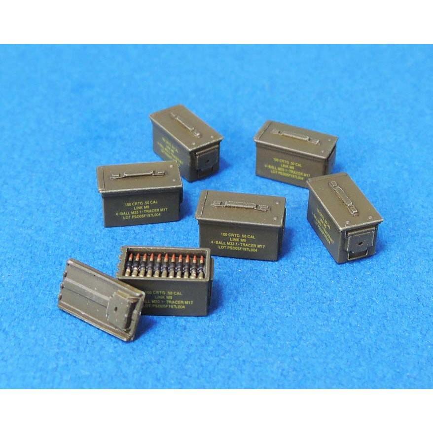 【新製品】LF1374 50CAL 弾薬箱セット(現用、クローズ27個、オープン3個、弾薬ベルト3個)