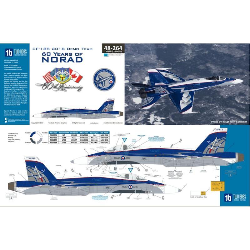 【新製品】48264 CF-188 2018 デモチーム ノーラッド60周年 北アメリカ航空宇宙防衛司令部