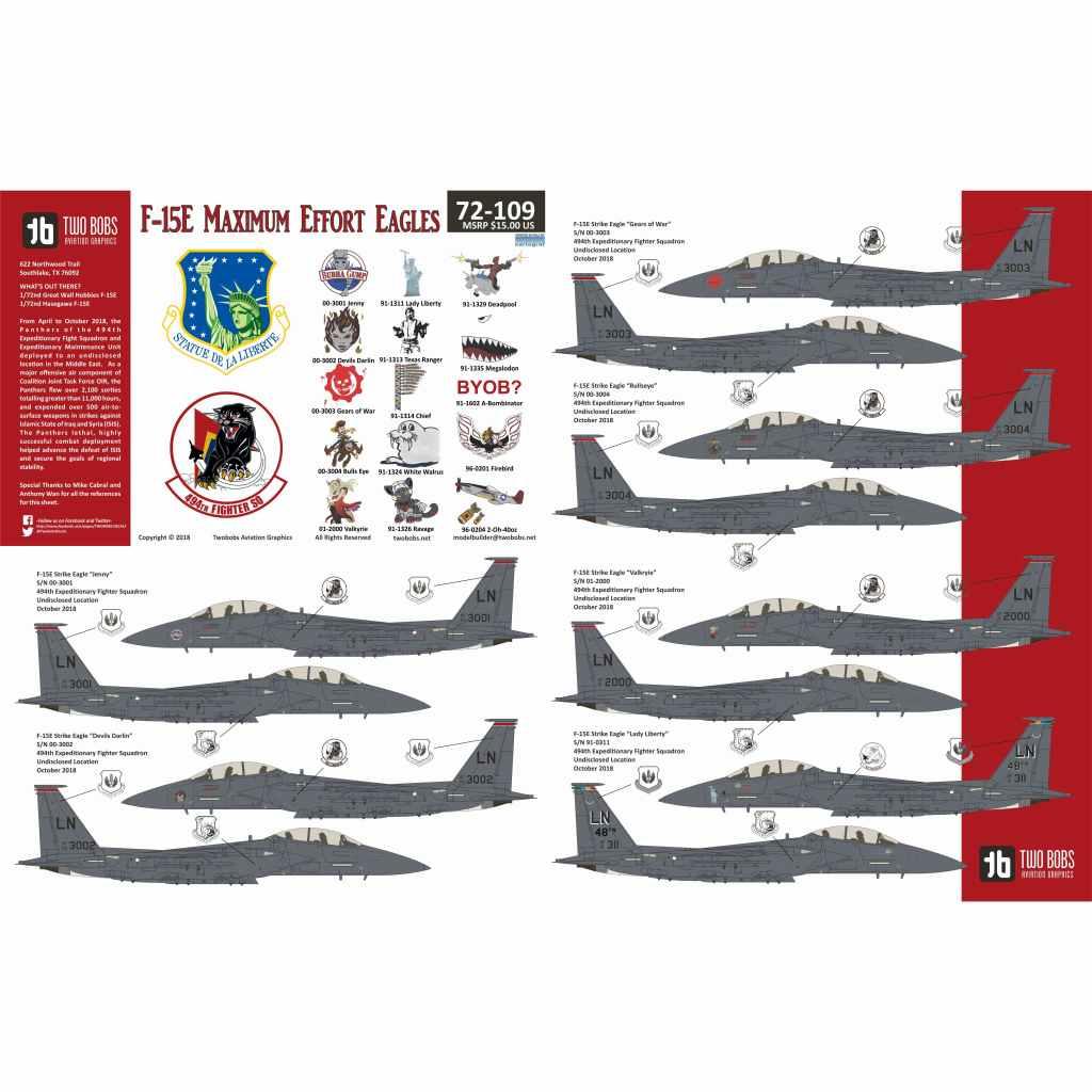 【新製品】72109 F-15E ストライクイーグル Maximum Effort Eagles