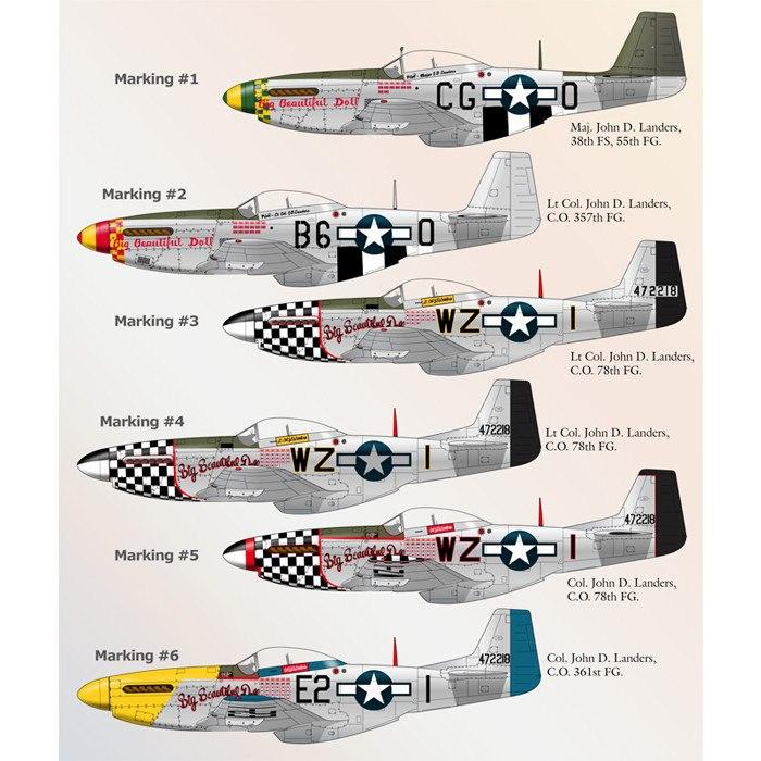 【新製品】72-037 ノースアメリカン P-51 マスタングPart.3 Big Beautiful Doll Special
