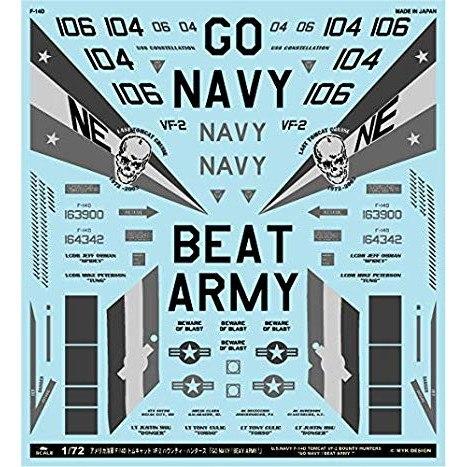 【新製品】A-72125 F-14D トムキャット VF-2 バウンティ・ハンターズ「GO NAVY!BEAY ARMY!」