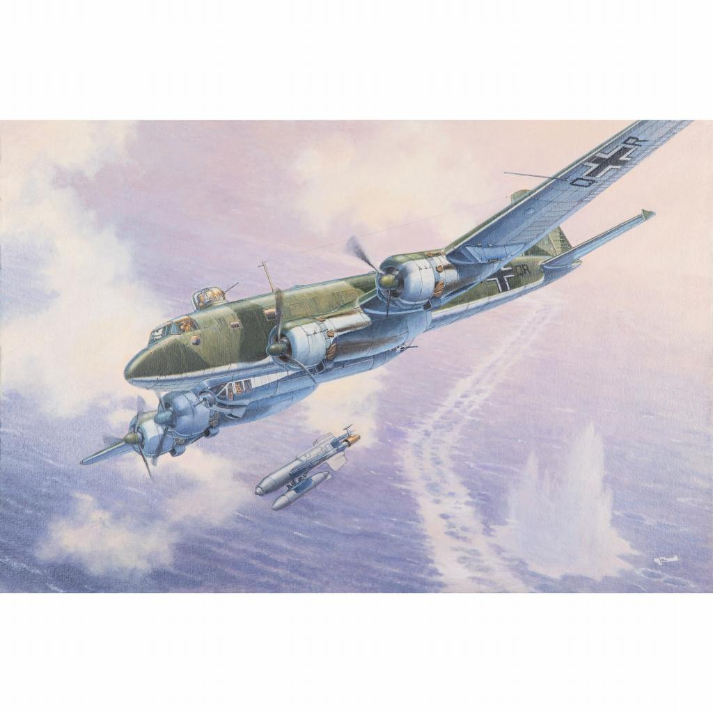 【新製品】340 独 フォッケウルフ Fw200C-6 コンドル 艦攻撃機 Hs293対艦ミサイル付