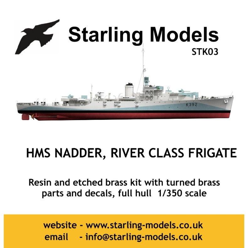 【新製品】STK03 英海軍 リバー級フリゲート K392 ナダー Nadder
