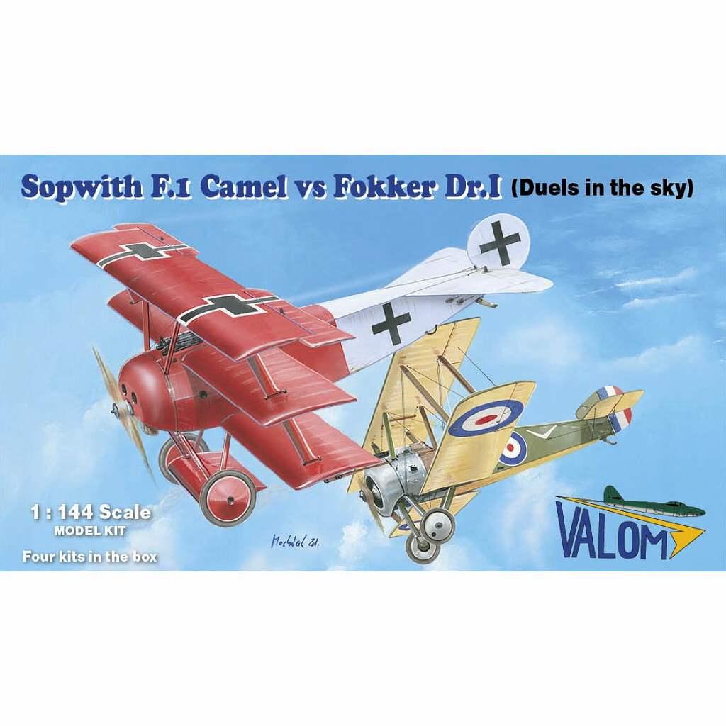 【新製品】14421 ソッピース キャメル F.1 vs フォッカー Dr.I (各2キット入り)