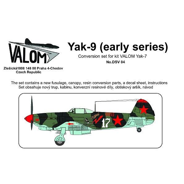 【新製品】DSV04 Yak-9 初期型 改造セット(バロム Yak-7用)