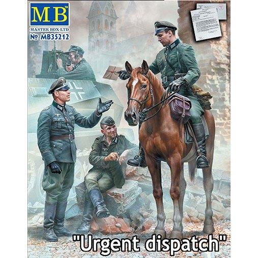 【新製品】35212 独 騎乗将校+将校&歩兵3体 緊急伝令