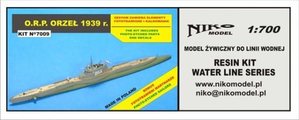 【再入荷】7009 ポーランド海軍 オジェウ級潜水艦 オジェウ ORZEL 1939