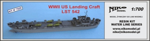 【再入荷】7029 LST-1級戦車揚陸艦 LST-542