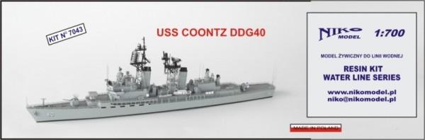 【再入荷】7043 クーンツ級ミサイル駆逐艦 DDG-40 クーンツ Coontz
