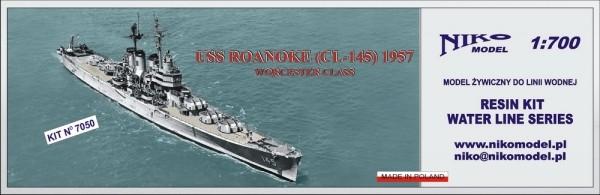 【再入荷】7050 ウースター級軽巡洋艦 CL-145 ロアノーク Roanoke 1957