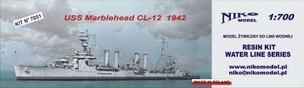 【再入荷】7051 オマハ級高速軽巡洋艦 CL-12 マーブルヘッド Marbelehead 1942