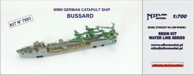 【再入荷】7093 独 カタパルト飛行艇母艦 ブッサルド Bussard 1942