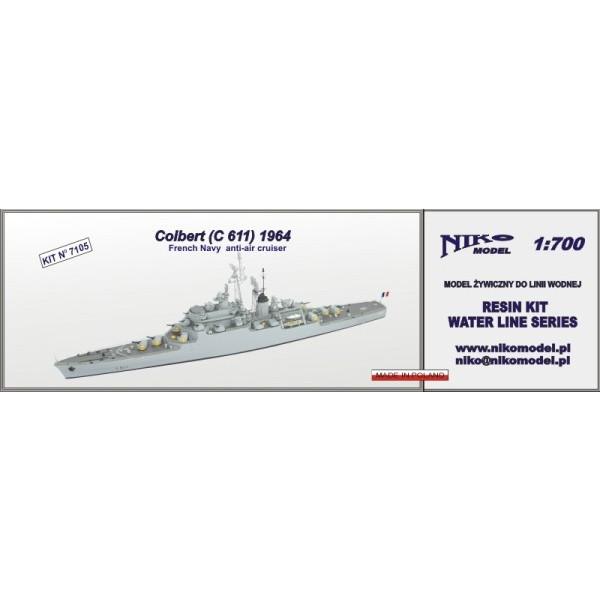 【再入荷】7105 仏海軍 防空巡洋艦 C611 コルベール Colbert 1964