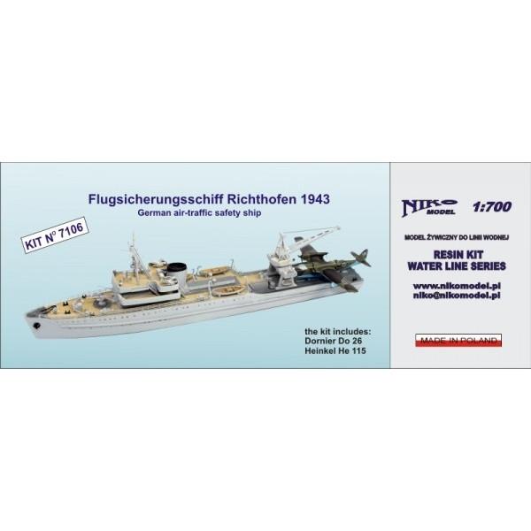 【再入荷】7106 独海軍 水上機母艦 リヒトホーフェン Richthofen 1943