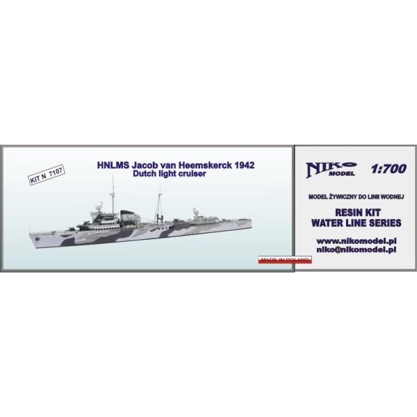 【新製品】7106 オランダ海軍 トロンプ級軽巡洋艦 ヤコブ・ヴァン・ヘームスケルク Jacob van Heemskerck 1942