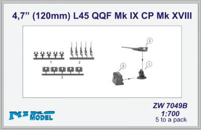 【再入荷】ZW7049B 英海軍 4.7インチ120mm砲 L45 QQF Mk.IX CP Mk.XVIII