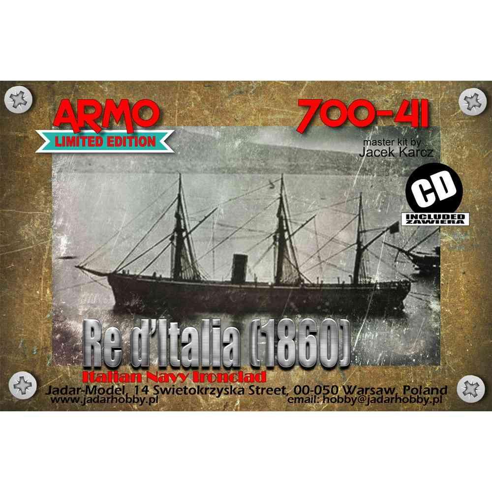 【新製品】700-41 伊海軍 レ・ディタリア級装甲艦 レ・ディタリア Re d'Italia 1864