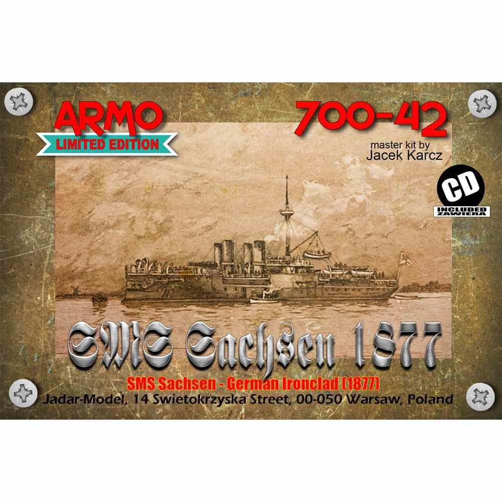 【新製品】700-42 独海軍 ザクセン級装甲艦 ザクセン Sachsen 1877