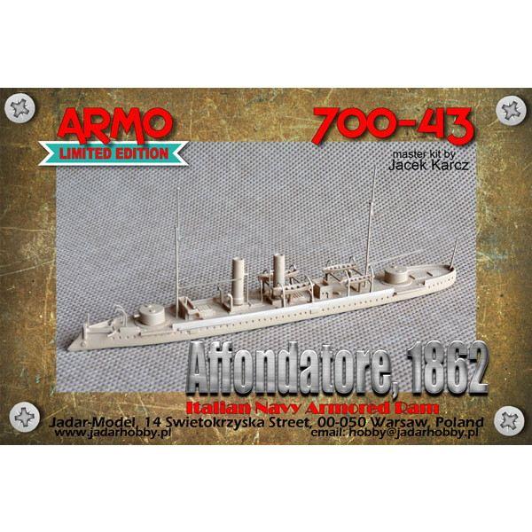 【新製品】700-43 伊海軍 装甲艦 アフォンダトーレ Affondatore 1862