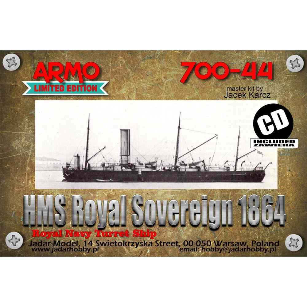 【新製品】700-44 英海軍 砲艦 ロイヤル・ソブリン Royal Sovereign 1864